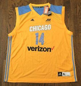 Allie Quigley Jersey Chicago Sky WNBA Adidas NWT Basketball XL