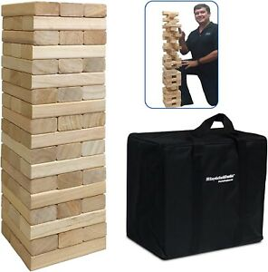 LARGE 54Piece Giant Wood Block Stack Tumble Tower Toppling Great for Game Family