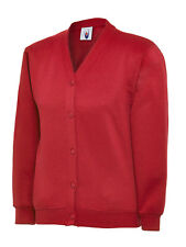 Uneek CHILDRENS CARDIGAN Button Up Sweatshirt PE Jumper Girls School Uniform TOP