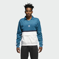 adidas Originals Drill Pullover Jacket Men Real Teal White Navy CE4812