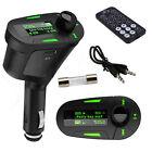 USB Car Kit MP3 Player Wireless FM transmitter Modulator SD LCD Remote Lot G#
