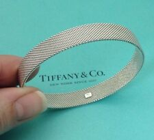 Tiffany & CO. Somerset empresa de malla de plata esterlina brazalete pulsera