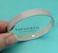 Tiffany & Co. Argento Sterling Somerset ditta Mesh Bracciale Bangle
