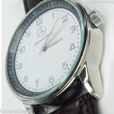 NEW Mercedes Benz Men's Leather Strap Quartz Luxury Wrist Watch USA FAST SHIP