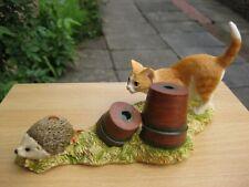 More details for an original sherratt and simpson piece  - kitten chasing hedgehog  (702gin)
