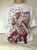 """Harley-Davidson Men's White short sleeve shirt """"all over stars"""" 3XL"""