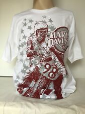 "Harley-Davidson Men's White short sleeve shirt ""all over stars"" 3XL"