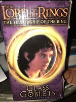 Lord of the Rings Glass Goblet Frodo The Hobbit Collection 2001 Light Up