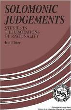 Solomonic Judgements: Studies in the Limitation of Rationality-ExLibrary