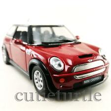 Kinsmart Mini Cooper S 1:28 Diecast Toy Car Red KT5059D