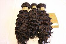 Deep Wave Curly 100% Human Hair 1-3 Bundles Thick Dark Brown