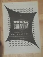 Big Country The Teacher   1986 press advert Full page 28 x 39 cm poster