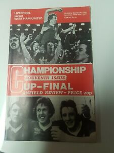 RARE LIVERPOOL v WEST HAM UNITED CHAMPIONSHIP/CUP FINAL PROGRAMME 1976/77