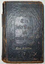 ANTIQUE 1877 EVANGELICAL LUTHERAN BIBLE IN GERMAN SHERMAN & CO PHIL