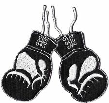 BOXING GLOVES - BLACK - IRON-ON PATCH
