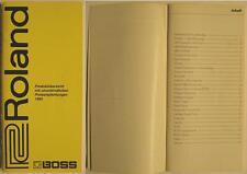 ROLAND BOSS KATALOG VON 1995 - PRODUKTÜBERSICHT MIT PREISEN
