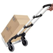 Folding 176 Lbs Capacity Heavy Duty Hand Truck Push Cart Trolley +2 Wheels Home