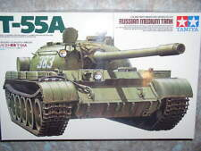 Tamiya 1/35 Russian T55A Medium Tank Military Model Kit #35257