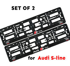 New Set of Audi S Line Number Plate Surrounds Holder Frames, A1, A3, A4, A5,A6,