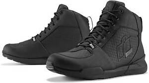 Icon Tarmac WP Shoes - Waterproof Motorcyle Street Bike Riding Leather D30 Boots