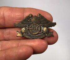 Vintage Harley Davidson LR Motorcycle Pin HUGE Brassy gold tone