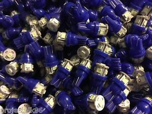 (10)COOL BLUE 8V-LED WEDGE LAMPS/ Pioneer DIAL LIGHTS SX BULBS