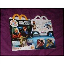 U.K McDonalds happy meal empty box starwars clone wars (used)