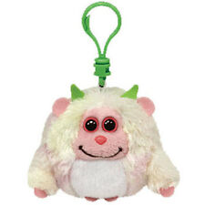 TY Monstaz - LOLA the Yellow & Pink Monster (Plastic Key Clip - 3 inch) - MWMTs