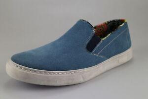 scarpe uomo CRUZ EU 41 mocassini slip on blu camoscio DX456