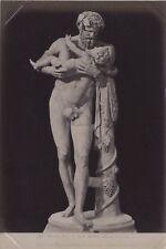 Silène portant Bacchus Sculpture classique gréco-romaine Photo Vintage Albumine