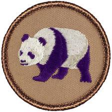 Cool Boy Scout Patches- Purple Panda Patrol! (#101A)