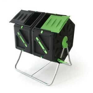Good Ideas Tumbling Dual Twin Chamber Composter 140L-2Cell X 70L