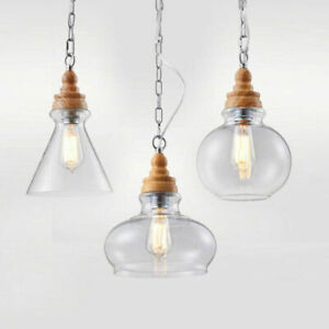 Glass Pendant Light Kitchen Lamp Modern Ceiling Light Home Pendant
