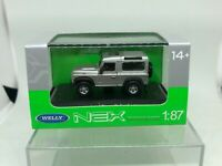 WELLY 1:87 LAND ROVER DEFENDER GRIS