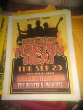 Reverend Horton Heat * Rare Concert Flyer Color * Springfield, Mo 9/29/2005