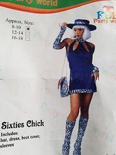ladies 60s fancy dress costumes size 8/10