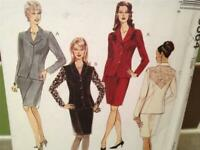 McCalls Sewing Pattern 8564 Ladies / Misses Lined Jacket Skirt Size 6-10 Uncut