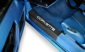 1988-1989 Corvette Door Sill Plate Protectors with Embossed CORVETTE Letters