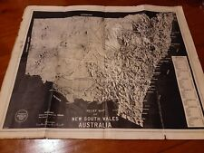 VINTAGE RELIEF MAP OF NSW.
