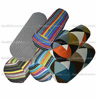 ak+6 Colors Stripe Pattern Cotton Canvas Bolster Yoga Cushion Cover Custom Size