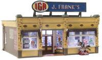 Woodland Scenics BR5050, HO Scale, J. Franks Grocery, Built-Up & LED Light, 5050
