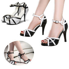 Women Wedding Bridal Shoes High Heels Peep Toe Leather Party Pumps size 4-10