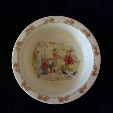 Nwot Royal Doulton Bunnykins Bowl With Home From Fishing