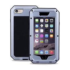 Apple iPhone 6 6 S 4.7 Heavy Duty Housse Métal Boîtier étanche antichoc argent