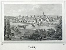 Rochlitz-vista general-Saxonia-litografía 1834/1835