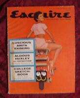 RARE ESQUIRE Magazine September 1956 Anita Ekberg Aldous Huxley Serge Obolensky