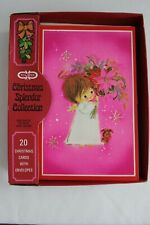 19 VINTAGE CLEO CHRISTMAS GREETING CARDS ~ ANGEL & PUPPY