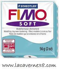 Pain de pâte polymère FIMO Soft 39 bleu création bijoux perles