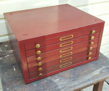 Vintge 1930s Industrial Watch Repair Shop Parts Cabinet 6 Drawer American Perfit