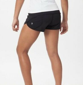 IVIVVA for LULULEMON Solid Black Speed Up Shorts Girls Size 12 - good condition!